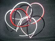 Girls Plastic Head bands set of 3 peices RED WHT PNK